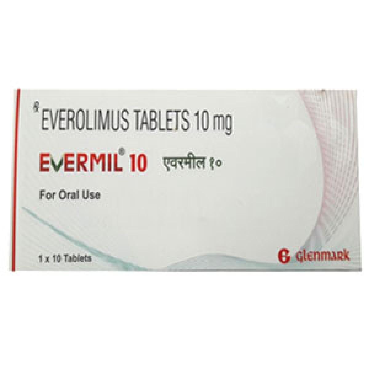 印度的GLENMARK EVERMIL/依维莫司/Everolimus/飞尼妥使用说明